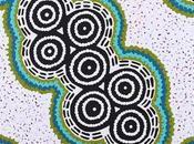 Focus peinture aborigène pointilliste Rêve Fourmi Volante