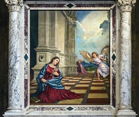 1519 Titien Duomo_(Treviso)_-_Interior_-_Annunciation