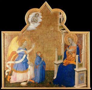 1375-80 Jacopo_di_Cione_-_Anunciacion_con_mecenas Museo de Arte de Ponce