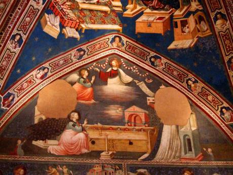 1320-25 Pietro e giuliano da rimini Annonciation Basilica_di_San_Nicola_Cappellone Tolentino_