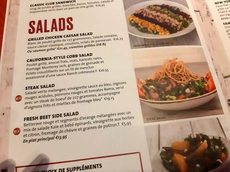 Hard Rock Cafe Paris HRC menu nouvelle carte restaurant burger