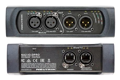Neutrik NA2-IO-DPRO : une nouvelle interface audio sur IP Dante 3 en 1