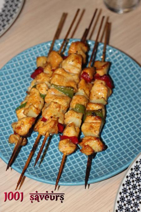 Chachlyk de poulet (brochettes marinées)