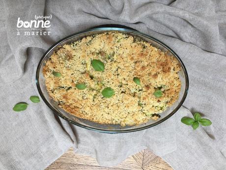 Crumble de courgettes au gorgonzola