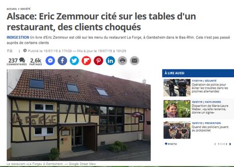 Et si vous n'alliez surtout pas au restaurant La Forge, à #Gambsheim ? #racisme