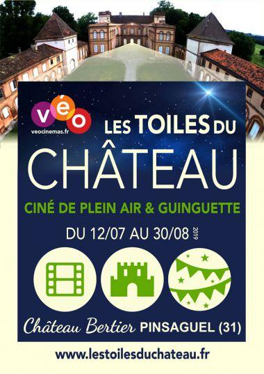 LES TOILES DU CHATEAU, Cinéma en plein-air  & Guinguette à Pinsaguel