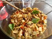 Salade pâtes poivrons rôtis poulet