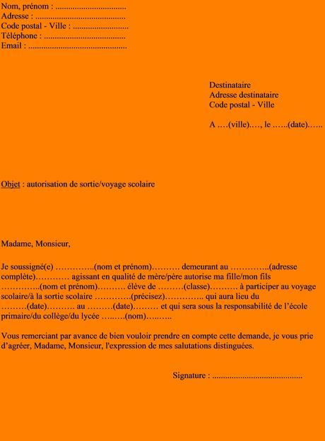 Lettre Absence Ecole Maternelle Pour Voyage Paperblog