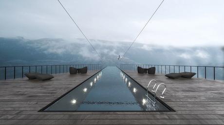 Norvège : un concept d'hôtel vertigineux accroché à une falaise