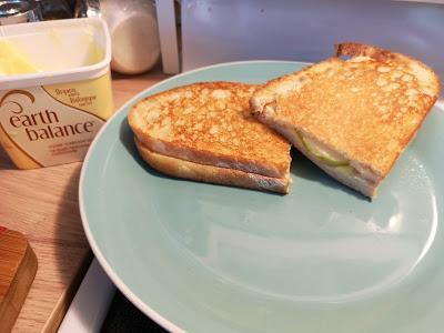Grill cheese gouda pomme vegan