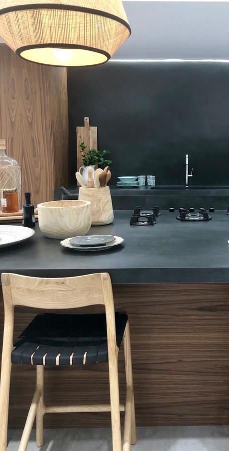 cuisine noire bois moderne minimaliste déco masculine - clem around the corner