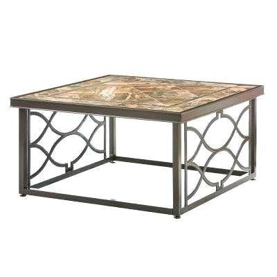 metal patio coffee table hill heather slate in square outdoor coffee table