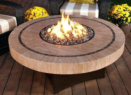 outdoor fireplace coffee table round propane outdoor fireplace table