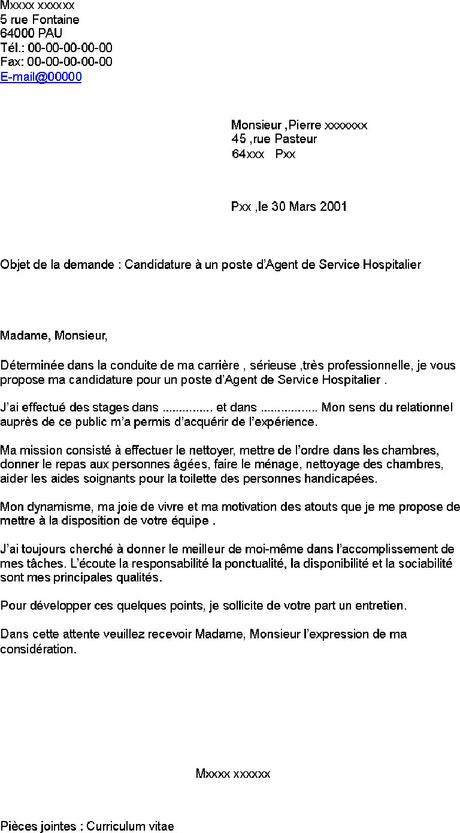 Lettre De Motivation Agent De Service Hospitalier Debutant Paperblog