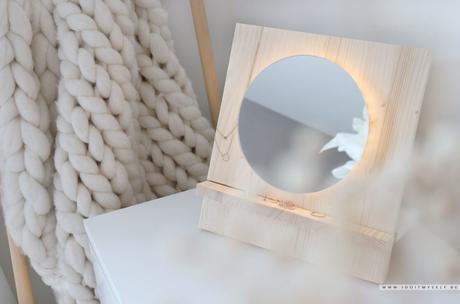 DIY miroir led en bois