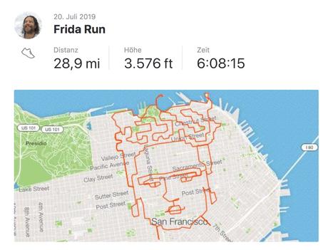 Un amateur de GPS drawingrend hommage à Frida Kahlo