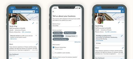 Nouvelle fonctionnalité Linkedin pour faciliter le développement business des prestataires intellectuels et TPE