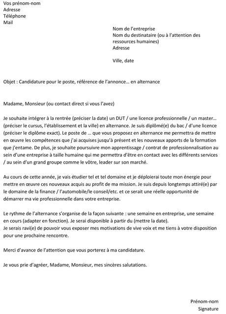 Lettre De Motivation Sncf Alternance Paperblog