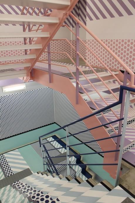 escaliers originaux washi tape stairs idée décoration coloré - blog déco - clem around the corner