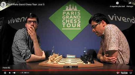 Nulle entre Maxime Vachier-Lagrave et Viswanathan Anand dans le dernier rapide de lundi