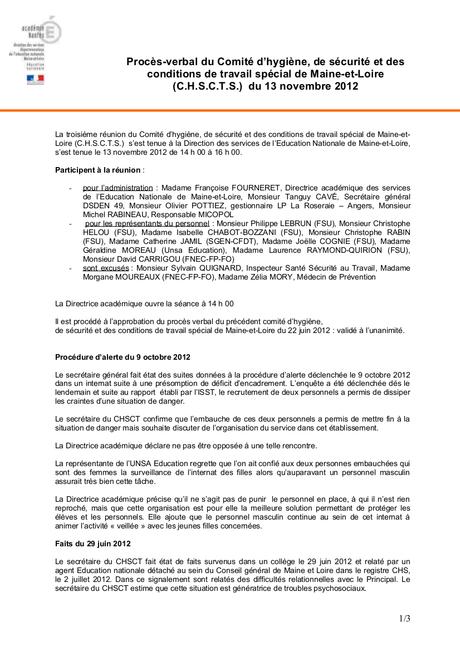 Exemple De Compte Rendu De R 233 Union 192 Lire