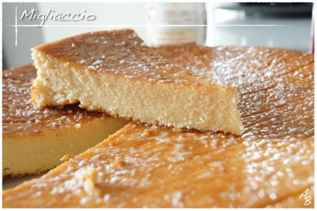 Migliaccio (gâteau napolitain  à la semoule et à la Ricotta)