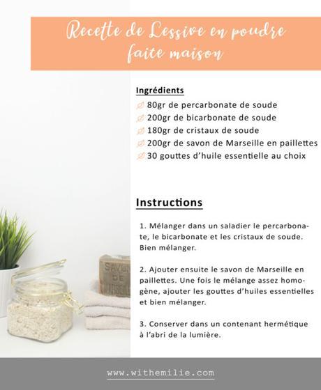 Ma recette de lessive en poudre faite maison en 10 minutes