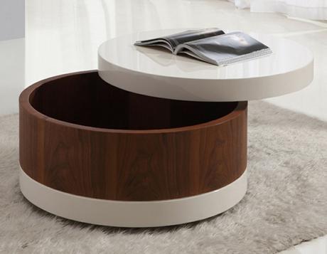 table basse ronde avec rangement bouteille paperblog. Black Bedroom Furniture Sets. Home Design Ideas