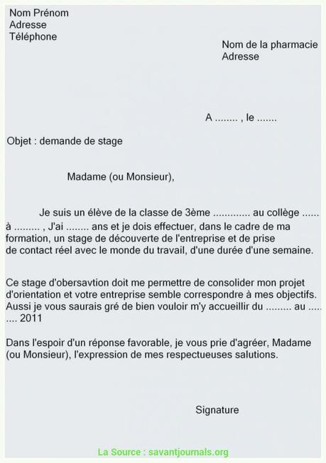 lettre de motivation mairie stage