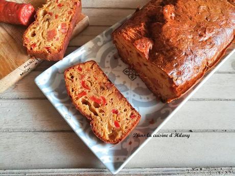 Cake au chorizo et aux poivrons