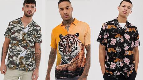 STYLE : une chemisette imprimé tigres pour l'été comme Amir ou Francisco Lachowski