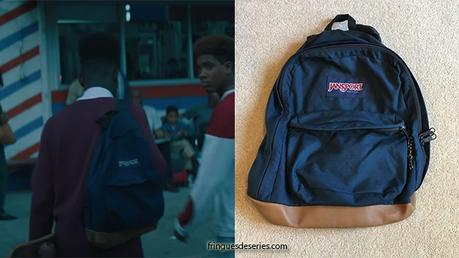 When They See Us : Yusef's blue backpack in episode 1