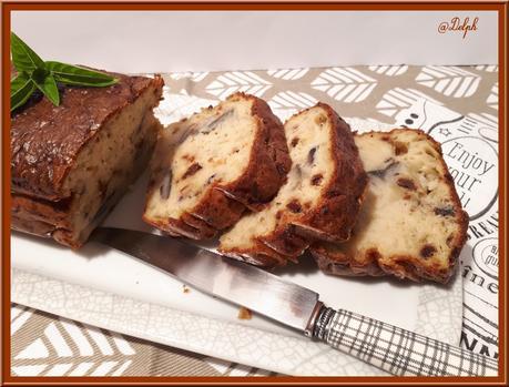Cake  à l'aubergine, tomates séchées et mozzarella