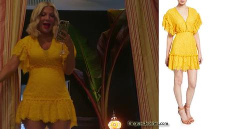BH90210 : Tori's yellow dress in episode 1
