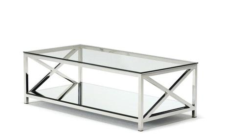 steel frame coffee table table with glass top stainless steel frame