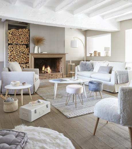 salon bord de mer fauteuil lin chic scandinave cocoon - blog decoration clem