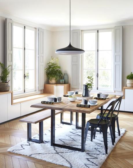 salle à manger loft scandinave campagne chic déco moderne