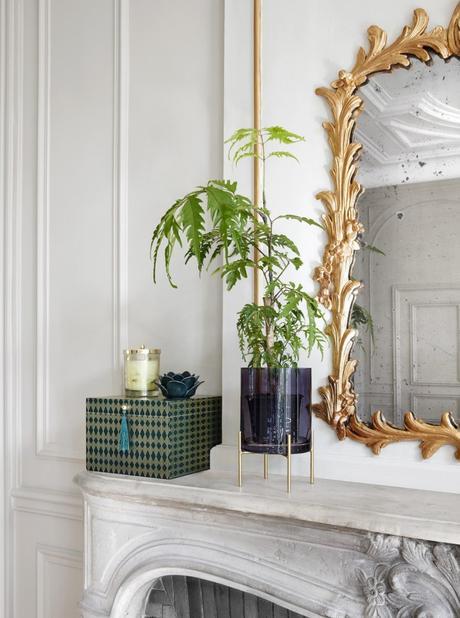 decor cheminée marbre miroir doré nouvelle collection but clem around the corner
