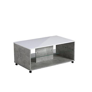 Table basse avec pouf d'occasion