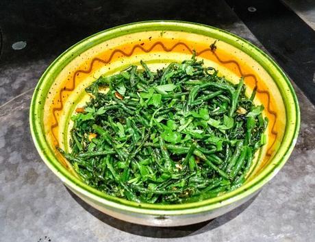 Première fois – Salicorne fraîche poêlée