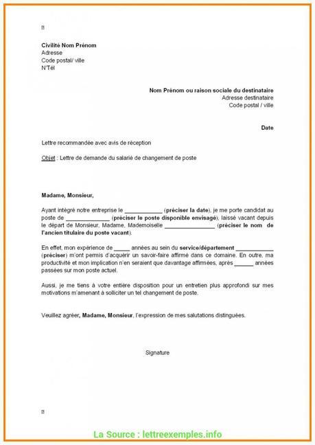 Lettre De Mutation Interne Paperblog
