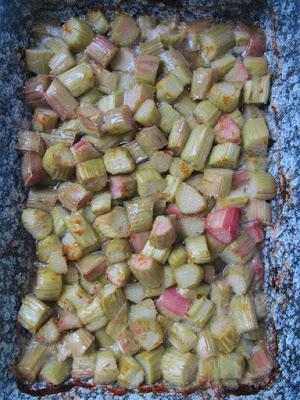 Rhubarbe rôtie au zeste d'orange et ses déclinaisons