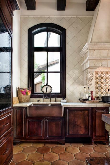 style toscan évier cuivre meubles en bois maison ancienne - blog déco - clem around the corner