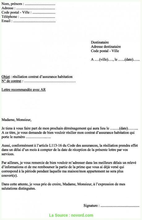 Plus Récent Exemple Lettre Recommandée Déménagement Modèle Lettre De ...