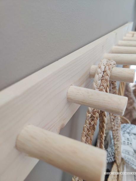 DIY : Patère murale en bois
