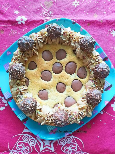 Cookie géant et sa ganache montée façon Ferrero Rocher