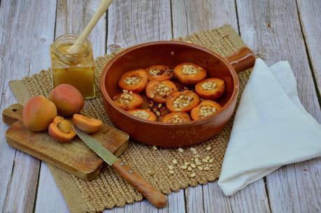 Abricots rôtis au miel