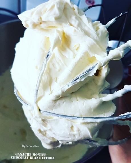 Ganache Montée chocolat blanc citron