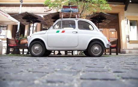 fiat 500 italie italy valise vacances vintage