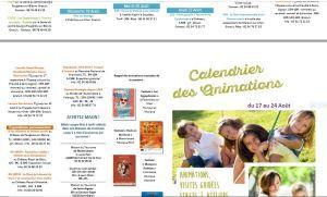 Val de Loire  programme du 17 Août au 24 Août 2019